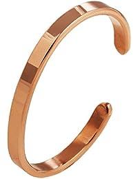 "Kupferarmband ""Eins"" Handgeschmiedet aus massivem Kupfer. Materialstärke 3mm."
