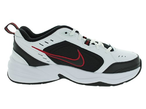 Nike pour homme Leather-and-synthetic Air Monarch IV Chaussures d'entraînement White / Black / Varsity Red