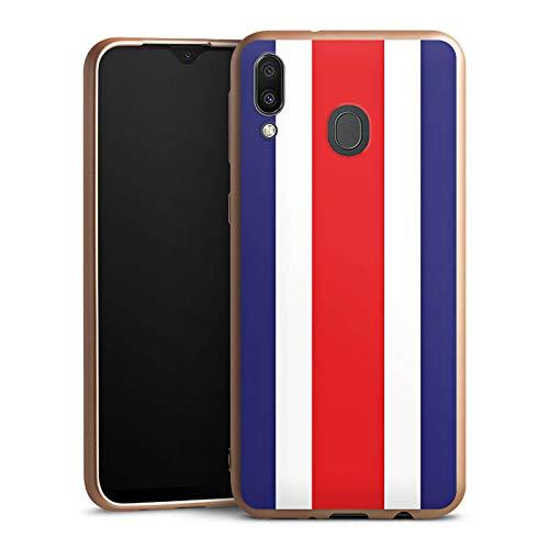 DeinDesign Silikon Hülle Gold kompatibel mit Samsung Galaxy M20 Case Schutzhülle Costa Rica Flag Flagge