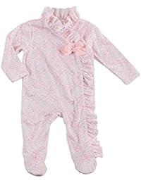 Mud Pie Holiday Pretty In Pink Baby Girl Pink Ruffle Kimono Sleeper 1132208 (6-9 Months)