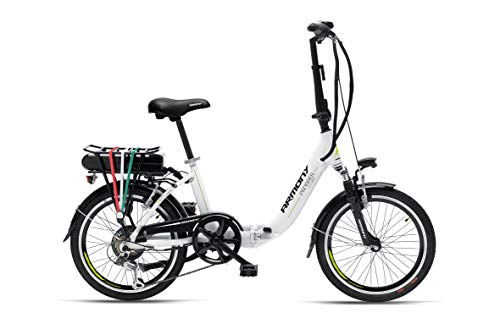 "Armony Panarea, Bicicletta Elettrica Unisex Adulto, Bianco, 20\"""