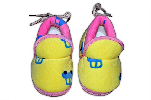 Baby Station Booties Winter Warm Girl Boys Shoes First Walker Training Shoes (0-6 M) (Yellow)  available at amazon for Rs.275