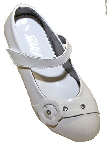 Pierre-cedric Chaussure Ballerine Fille Mariage Baptême Cérémonie Strass Vernis simili cuir