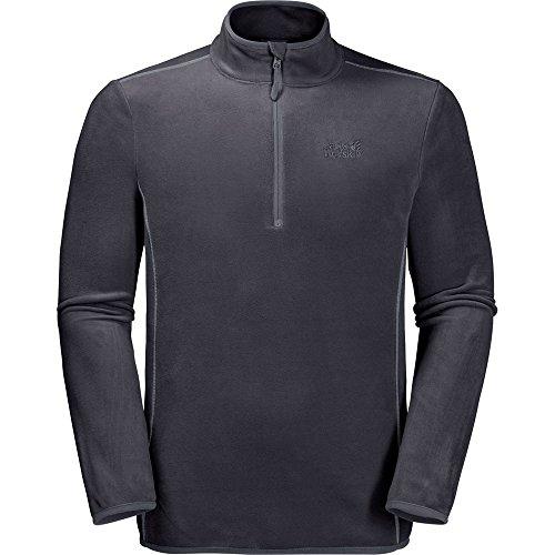 Jack Wolfskin Mens Echo Half Zip Lightweight Microfleece Jacket Coat - Polyester-microfleece Half Zip Pullover