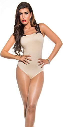 Sooo Hot! LederLookHose PushUp Optik! Beige