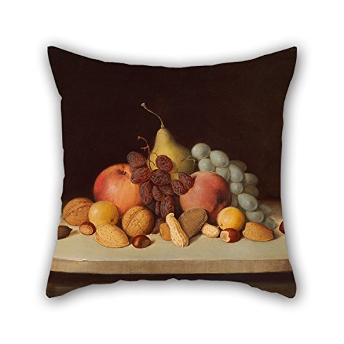 Pillow Cases 16 X 16 Inches / 40 By 40 Cm(twin Sides) Nice Choice For Festival,couples,indoor,valentine,dinning Room Oil Painting Robert Seldon Duncanson - Still Life With Fruit And Nuts - Valentine Kostüm Kinder