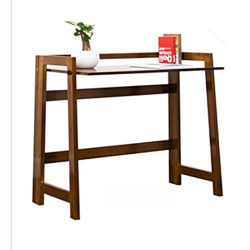 ZXQZ Computer Schreibtisch Schreibtisch einfach Schreibtisch Einfacher Schreibtisch Lazy Tisch Faltbarer kleiner Tisch (Braun) (105 * 43cm)...