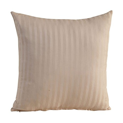 Homescapes Damast Kissenbezug 40x40 cm taupe beige ägyptische Baumwolle Fadendichte 330