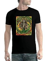 avocadoWEAR Esqueleto Bong Marijuana Rastas Hombre Camiseta XS-5XL f044803b77841