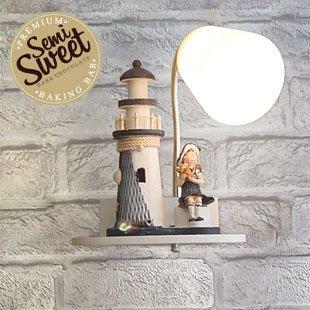 BESPD Mediterranen Stil Turm Cartoon Kinderzimmer Lampen Wohnzimmer Flur Flur Treppe Studie Schlafzimmer Bett Leuchtturm Mittelmeer -