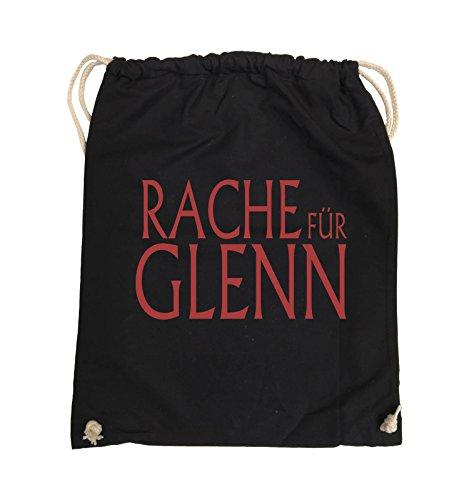 Borse Da Commedia - Vendetta Per Glenn - Walking Dead - Turn Bag - 37x46cm - Colore: Nero / Rosa Nero / Rosso