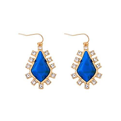 ZHWM Ohrringe Ohrstecker Ohrhänger Blaue Geometrische Kristallohrringe Simple & Fashion Damen Hochzeit Ohrringe Markenschmuck