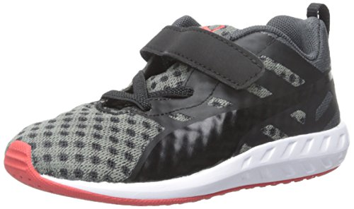 Puma Flare V Kids Textile Turnschuhe Asphalt-Black-Black