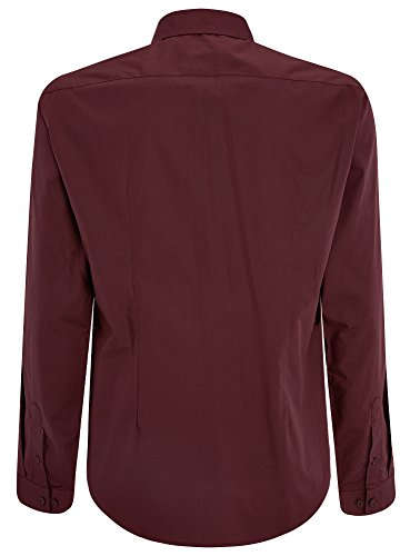 oodji Ultra Herren Tailliertes Hemd Basic Rot (4900N)