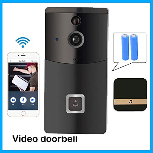 XY-store Wireless WiFi Smart Video Doorbell, 720P HD Wide-Angle Security Camera, Real-Time 2-Way Talk, Night Vision, PIR Motion Detection, App RC, für iOS Android PC