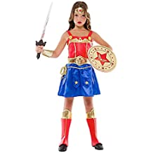 Costume di Carnevale da Ragazza GUERRIERA Baby Vestito per Bambina Ragazza  1-6 Anni Travestimento db367e2f15a