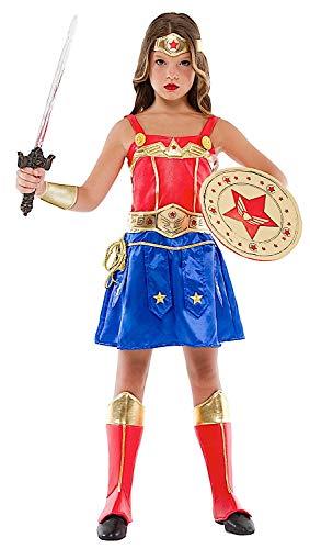 Costume di Carnevale da Ragazza GUERRIERA Vestito per Ragazza Bambina 7-10  Anni 376679f2ab63