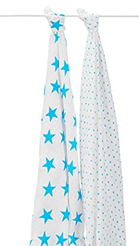 aden + anais Classic Swaddle (Fluro-Blue, Pack of
