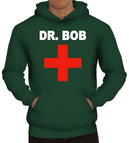 rkleidung Arzt Ärzte Kapuzenpullover Dr. Bob, Größe: M,dunkelgrün (Arzt Kostüme Ideen)