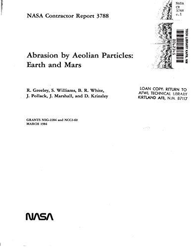 Abrasion by aeolian particles: Earth and Mars (English Edition)