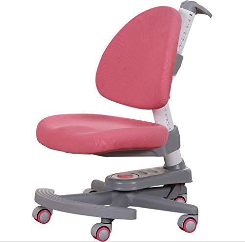 GGQF Kindertisch und Stuhl mit fünf Rädern Stuhl Sitting Posture Correction Stuhl Liftstuhl geeignet für Kinder \' S Office