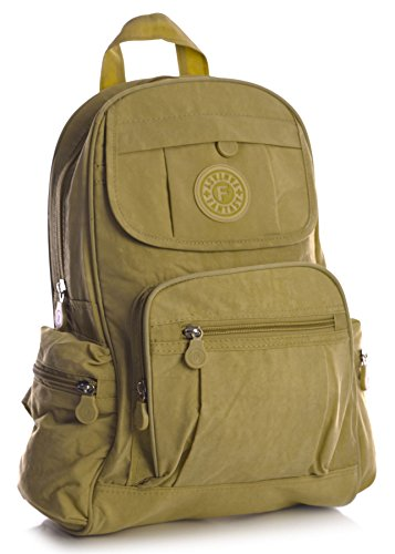 Big Handbag Shop Mini sac à dos en tissu léger - Marron - Honey, One