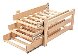 Wine Logic WL-MAPLE18 In-Cabinet Sliding Tray Wine Rack, 18-Bottle, Solid Maple Wood