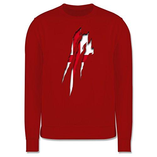 Länder - England Krallenspuren - Herren Premium Pullover Rot