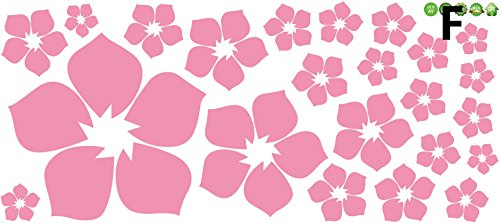 Syga Light pink flowers wall stickers 00SF  available at amazon for Rs.149