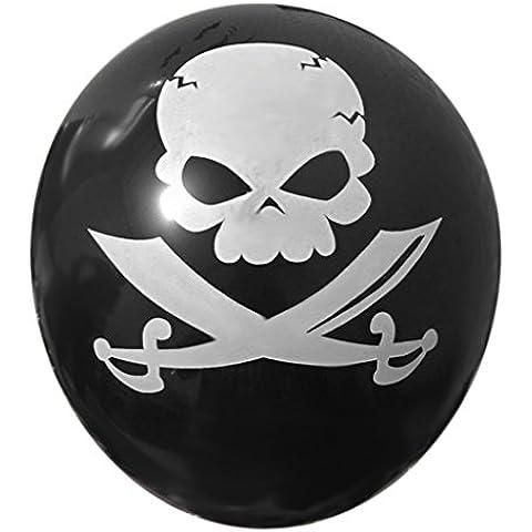 100pcs Globos De Látex Del Cráneo Decoración De Halloween Fiesta - # 1, 12 pulgadas