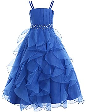 Freebily Vestido de Gala Vestido Largo Elegante Infantil de Fiesta Ceremonia Boda Disfraces Princesa para Niña...