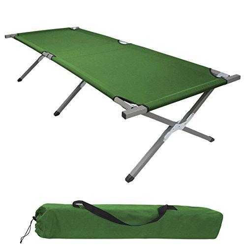 BB Sport Brandina da campeggio letto da campo pieghevole 190 x 64 x 41 cm caricabile fino a 120 kg incl. borsa per il trasporto, Colore:verde