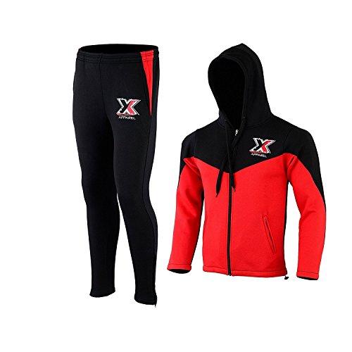 met-x Apparel New Mens Contrast Cord Full Zip Brushed Fleece Tracksuit  Hoodie Top Bottoms de6f7fa505d