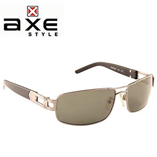 Axe Style XSG506 HIGH Quality aviator sunglasses (Black) + Stylish Case