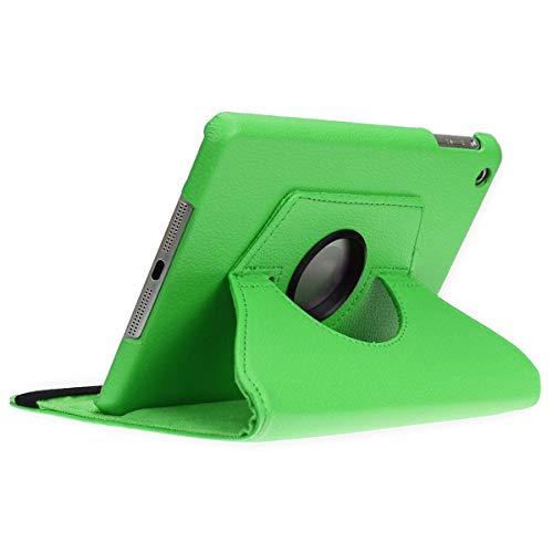 doupi Deluxe Schutzhülle iPad mini 1 2 3, Smart Case Sleep/Wake Funktion 360 Grad drehbar Schutz Hülle Ständer Cover Tasche, grün