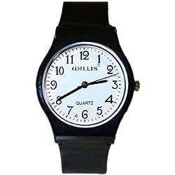 Girls Boys Children Plastic Black Wrist Time Keeper