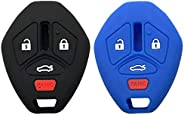 Silicone Protective Key Fob Remote Key Fob Cover Case Skin Jacket for Mitsubishi Lancer Outlander 2007-2012 20