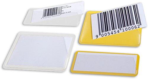 Magnethaftende Etikettenträger inkl. Papiereinlage (50 Stück) (31x100 mm, weiß)