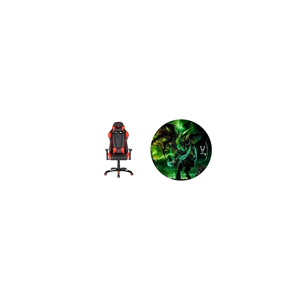 41cMBvZIO0L. SS1200  - Woxter Stinger Station Red - Silla Gaming + Alfombrilla Gaming de Suelo