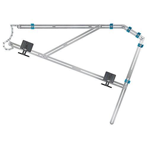 wolfcraft Treppenlehre 5210000 - Messwerkzeug für den Treppenbau - Treppenschablone zum Übertragen von Stufenmaßen - Auch ideal für Wendeltreppen