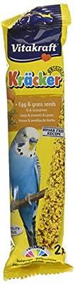 Vitakraft Budgie Kracker Bird Food Egg-Grass Seeds, Pack of 7 from Vitakraft