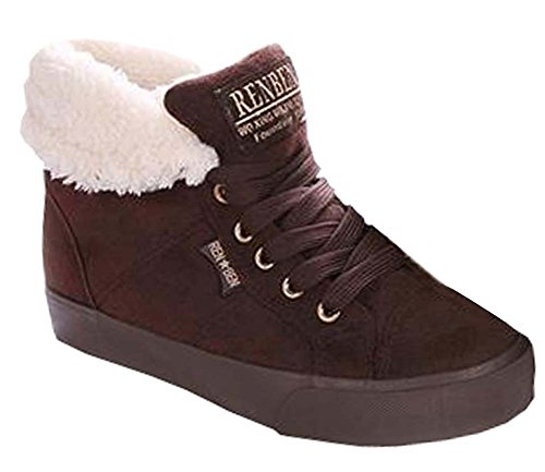 Winter stiefel Schuhe Freizeitschuhe Student erhöht schuhe Braun