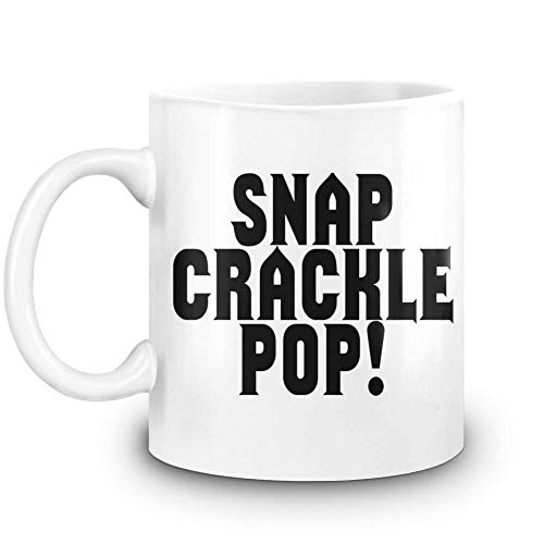 Snap Crackle Pop! Custom Printed Coffee Mug - 11 Oz - High Quality Ceramic Cup -