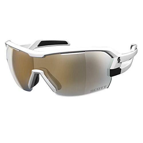 Scott Spur Fahrrad Wechselscheiben Brille weiß/goldfarben Chrome (Mädchen Schmutz Bike-helme)