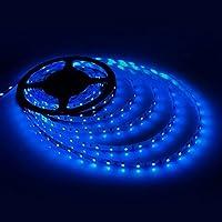 geree strisce LED per illuminazione SMD 352816,4ft (5m) 300LED flessibile corda nastro impermeabile illuminazione in DC Jack per Navi, bagno, specchi, Coperta e all' aria aperta–No Power liefern Blau