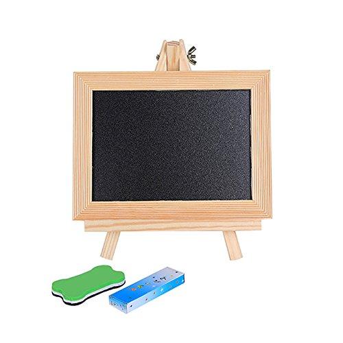 quanjucheer Kinder Mini Tafel, Kinder Holz Staffelei Doodle Zeichenbrett Spielzeug Stativ Kreide (Stativ Kreide Board)