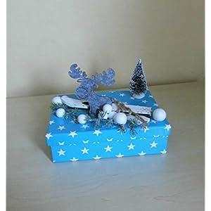 Geldgeschenk Box mit Ski und Elch Weihnachten