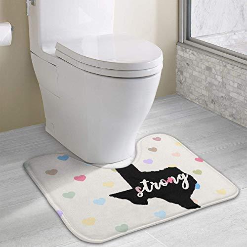 Hoklcvd Texas Strong1 U-Shaped Toilet Floor Rug Non-Slip Toilet Carpets Shower Mat (Honig Aus Texas)