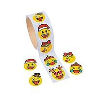 100 Christmas Emoji Face Stickers - Kids Crafts   Childrens Craft Stickers