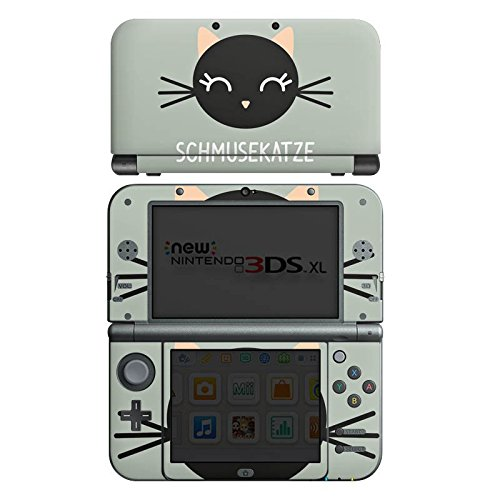 nintendo-new-3ds-xl-case-skin-sticker-aus-vinyl-folie-aufkleber-katze-cat-kitty